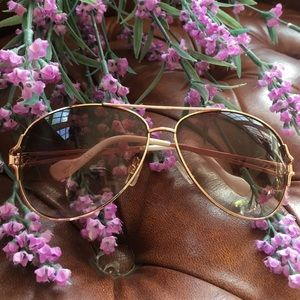 Oversized sunglasses Jessica Simpson aviator brown